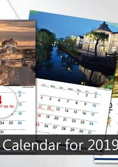 The 2019 Japanese Calendar in English